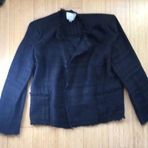 Ann Taylor loft black tweed suit coat 12